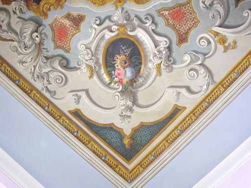 Soffitto A Volta Affrescato : Affreschi di rivestimento del soffitto a volta della galleria di